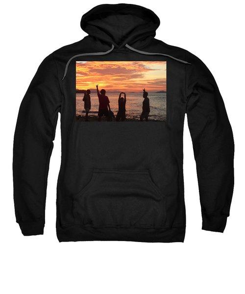 Enjoying Sunrise With Friends Sweatshirt