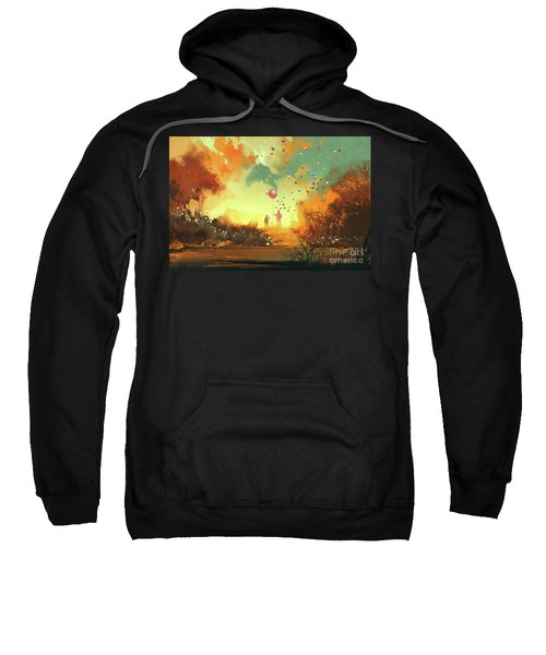 Sweatshirt featuring the painting Enter The Fantasy Land by Tithi Luadthong