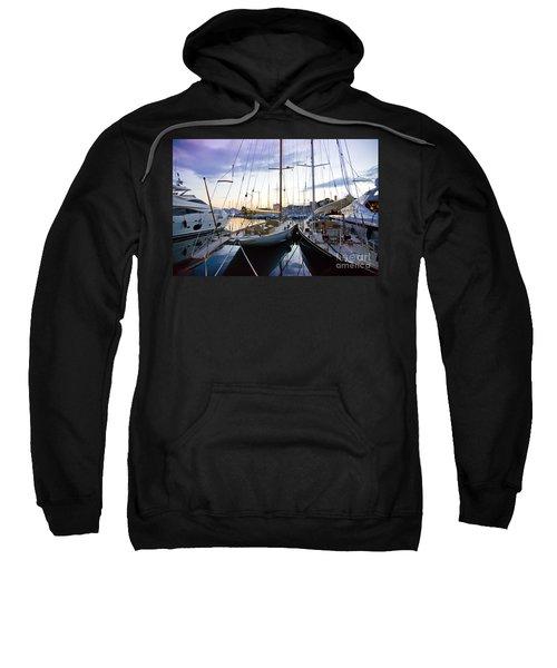 Evening At Harbor  Sweatshirt