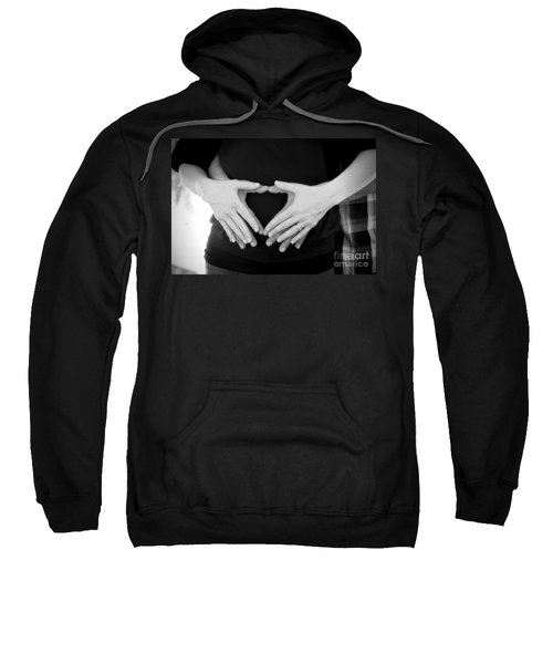 Expecting Love Sweatshirt by Peggy Hughes