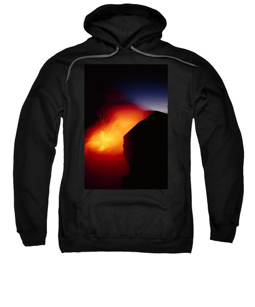 Explosion At Twilight Sweatshirt by William Waterfall - Printscapes