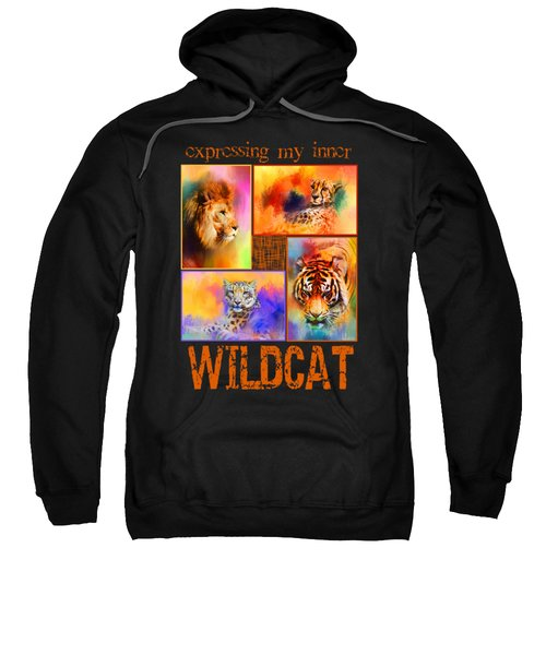Expressing My Inner Wildcat Sweatshirt by Jai Johnson