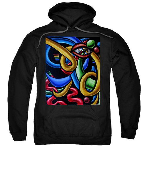 Eye Art Print Chromatic Abstract Art Painting Colorful Optical Artwork  Sweatshirt