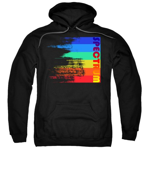 Faded Retro Pop Spectrum Colors Sweatshirt