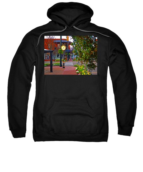 Fairhope Ave With Clock Down Section Street Sweatshirt