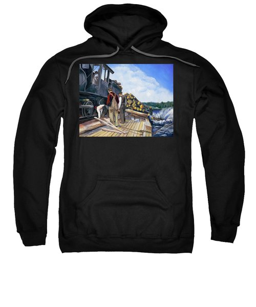 Fall Lake Train Sweatshirt