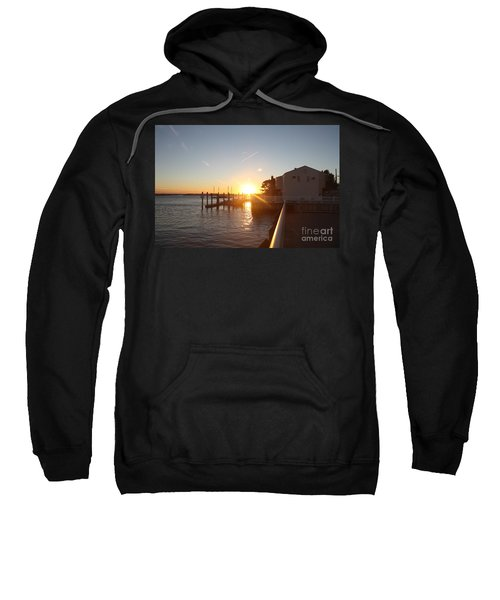 Fall Sunset Over Freeport Canal Sweatshirt