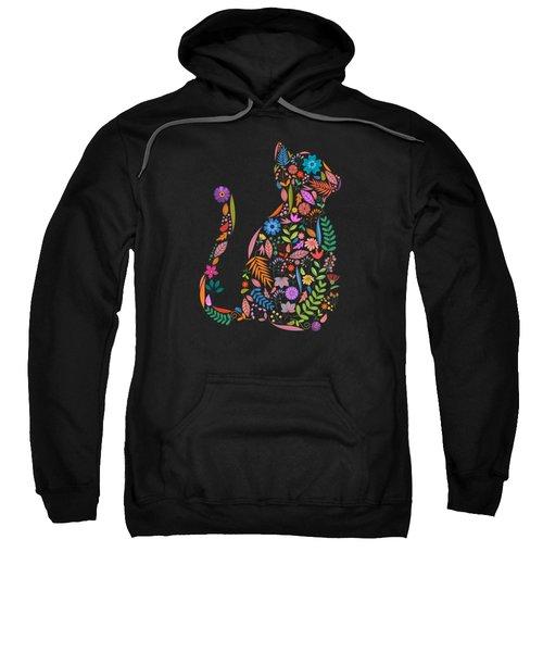 Fancy And Fine Flower Cat Garden Design Sweatshirt
