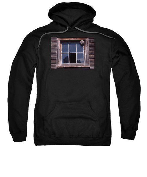 Farm Window With Paper Wasp Nest Sweatshirt