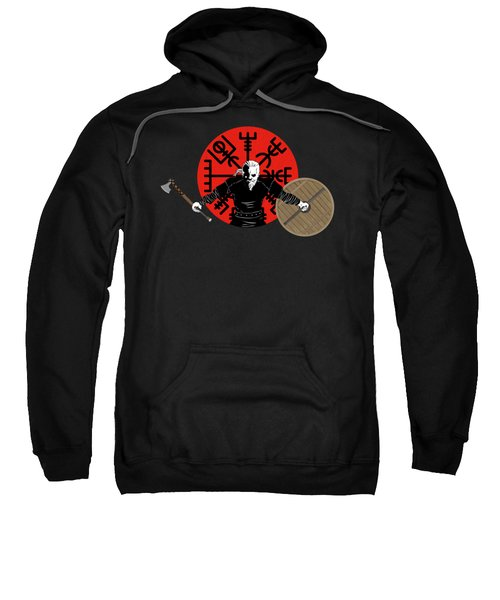 Fierce Viking Northman Warrior, Axe And Shield Sweatshirt