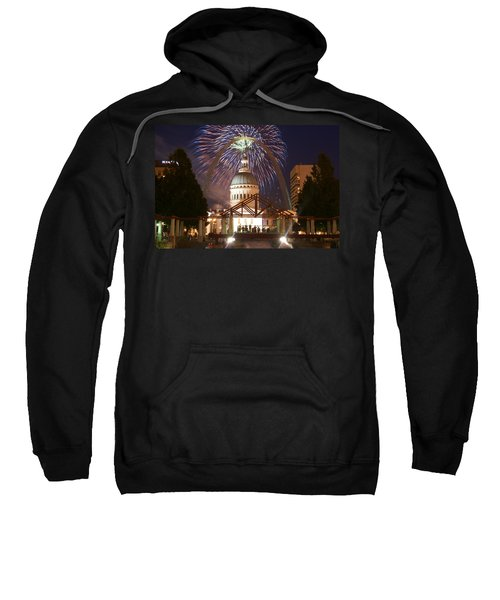 Fireworks At The Arch 1 Sweatshirt
