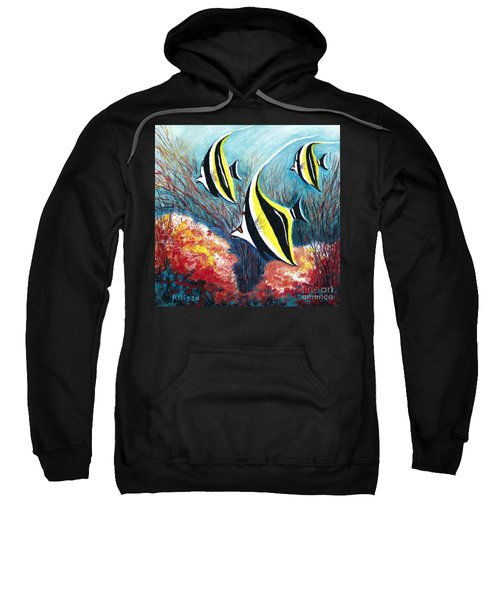 Moorish Idol Fish And Coral Reef Sweatshirt