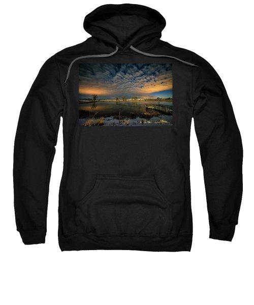 Fishing Hole At Night Sweatshirt
