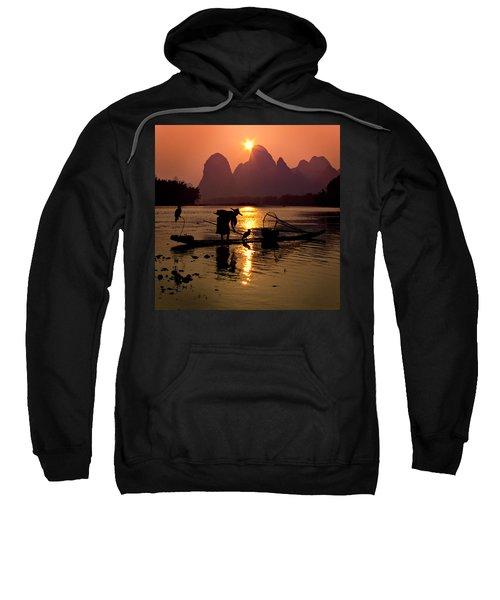 Fishing With Cormorants Sweatshirt