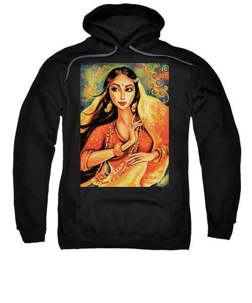 Sweatshirt featuring the painting Flame by Eva Campbell