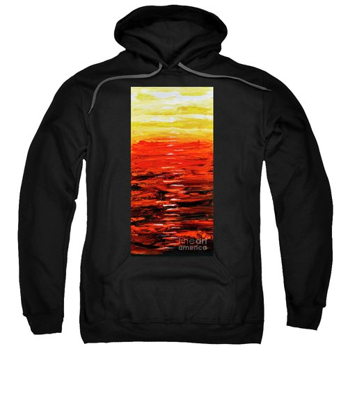 Flaming Sunset Abstract 205173 Sweatshirt