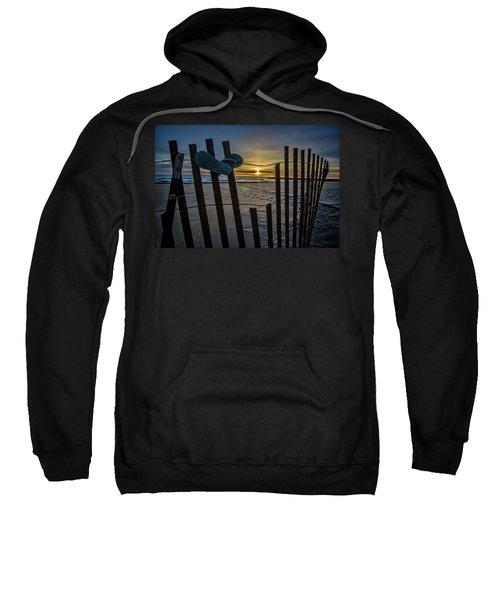 Flip Flops On A Beach At Sun Rise Sweatshirt