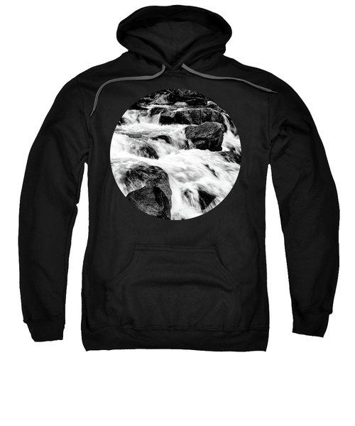 Flow, Black And White Sweatshirt by Adam Morsa