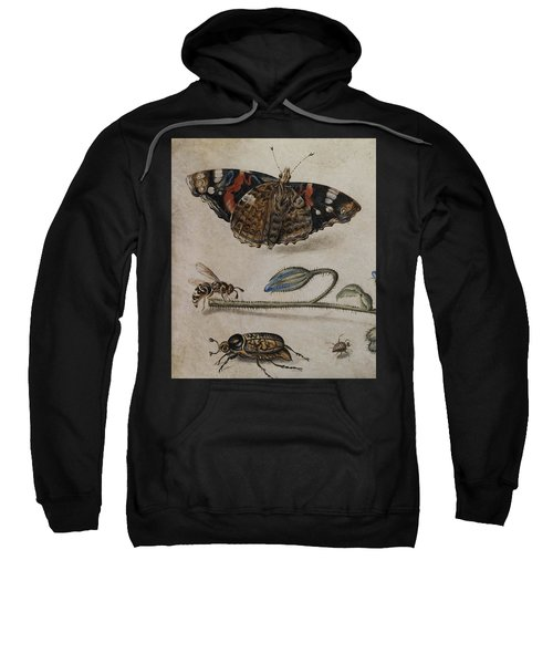 Flower, Insects And Butterfly Sweatshirt
