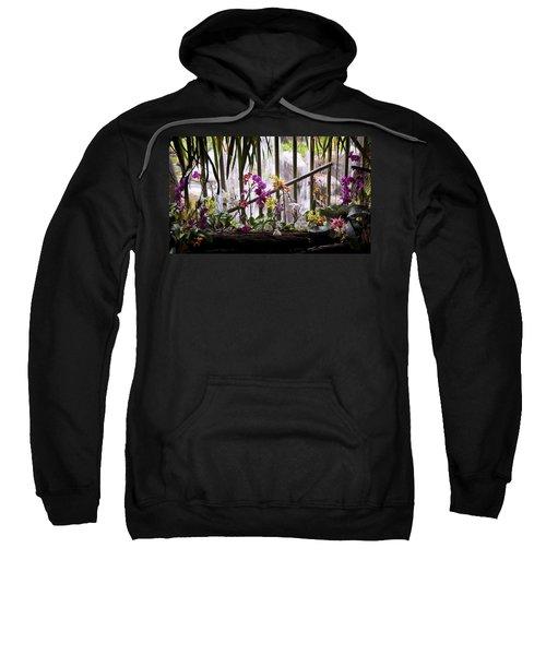 Flowers And Waterfall Sweatshirt