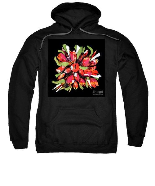 Flowers, Art Collage Sweatshirt