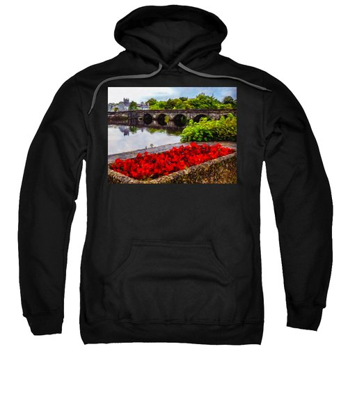 Sweatshirt featuring the photograph Flowers At Roosky by James Truett
