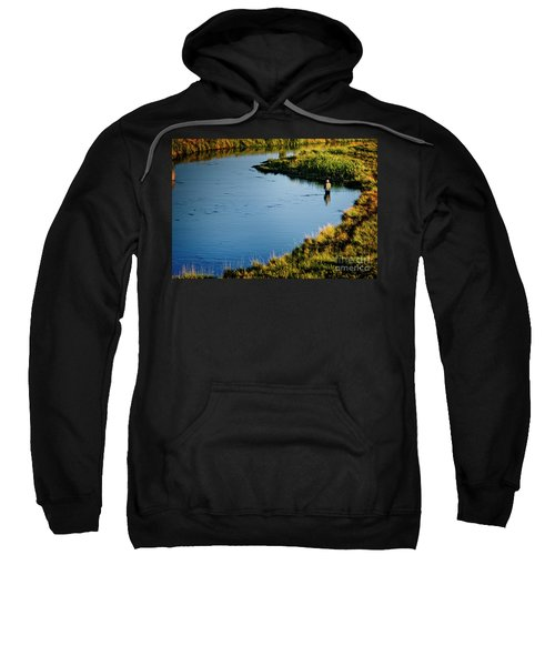 Sweatshirt featuring the photograph Fly Fishing  by Scott Kemper