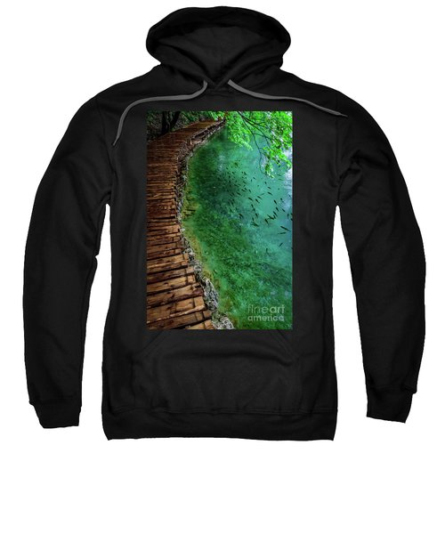 Footpaths And Fish - Plitvice Lakes National Park, Croatia Sweatshirt