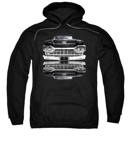 Ford F100 Truck Reflection On Black Sweatshirt
