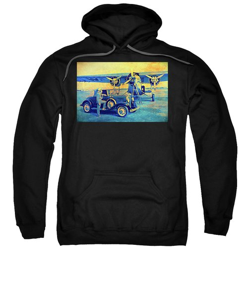 Ford Trimotor And 1931 Model A Roadster Sweatshirt