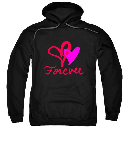 Sweatshirt featuring the digital art Forever by Cristina Stefan