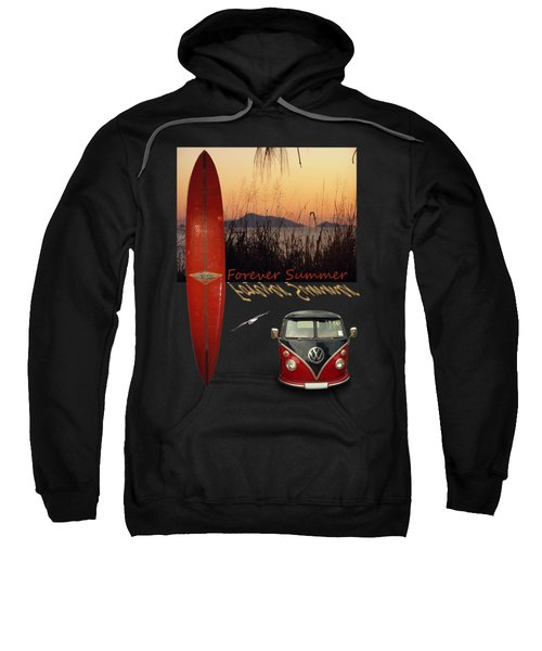 Sweatshirt featuring the photograph Forever Summer 1 by Linda Lees