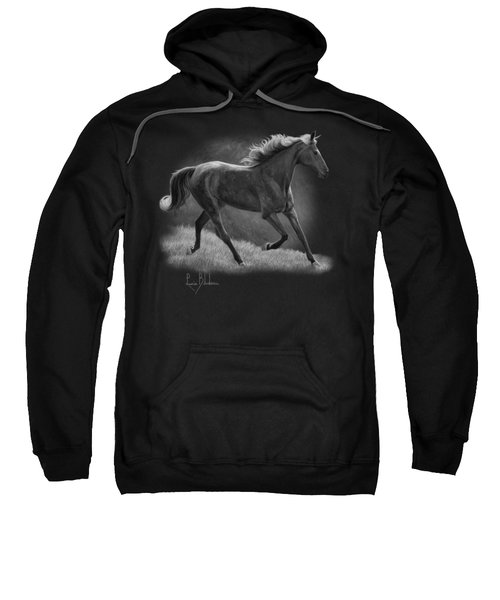 Free - Black And White Sweatshirt by Lucie Bilodeau