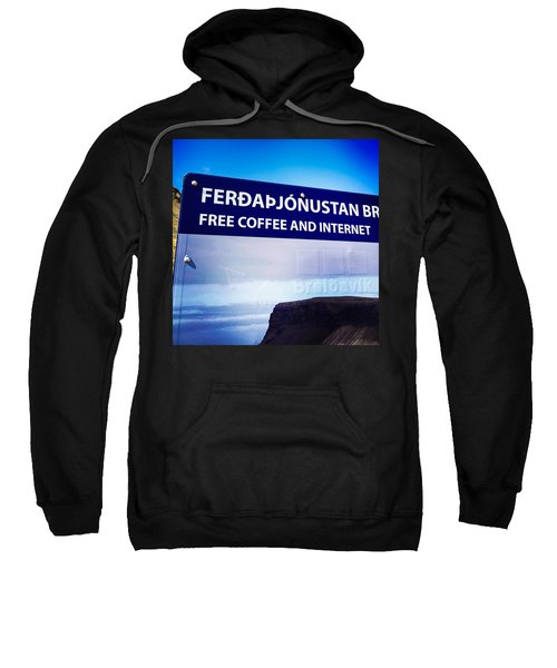 Free Coffee And Internet - Sign In Iceland Sweatshirt