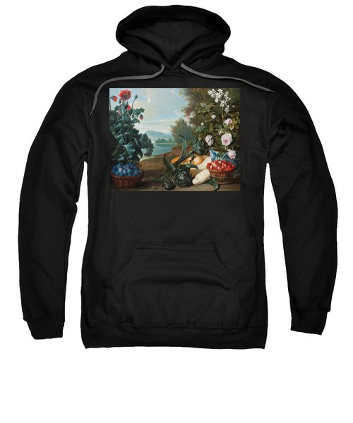 Fruits Flowers And Vegetables In A Landscape Sweatshirt
