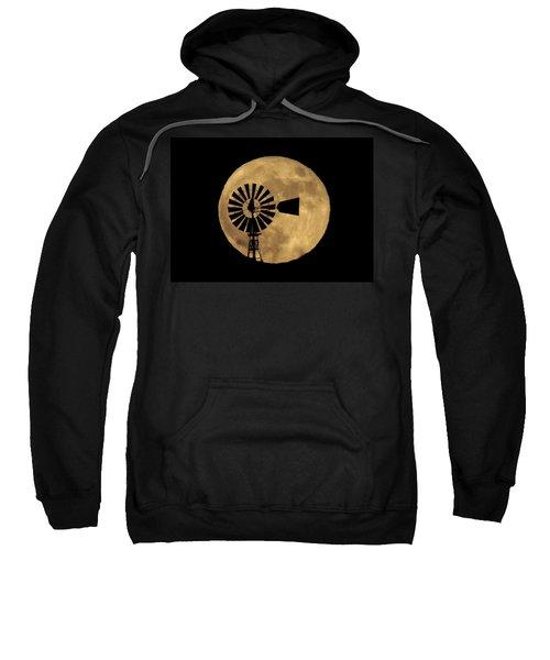 Full Moon Behind Windmill Sweatshirt