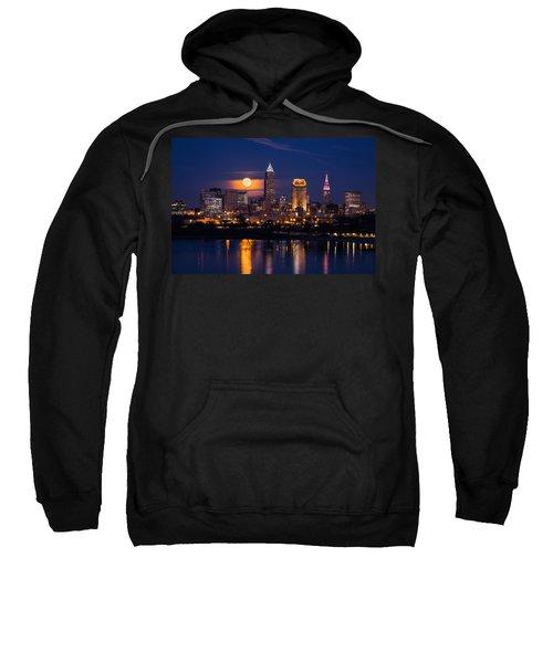 Full Moonrise Over Cleveland Sweatshirt