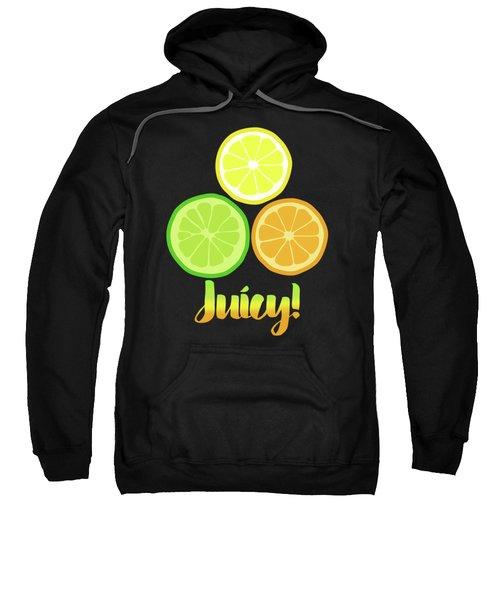 Fun Juicy Orange Lime Lemon Citrus Art Sweatshirt