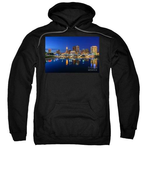 Fx2l531 Columbus Ohio Skyline Photo Sweatshirt