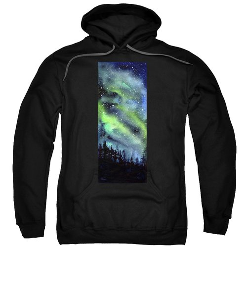 Galaxy Watercolor Nebula Northern Lights Sweatshirt
