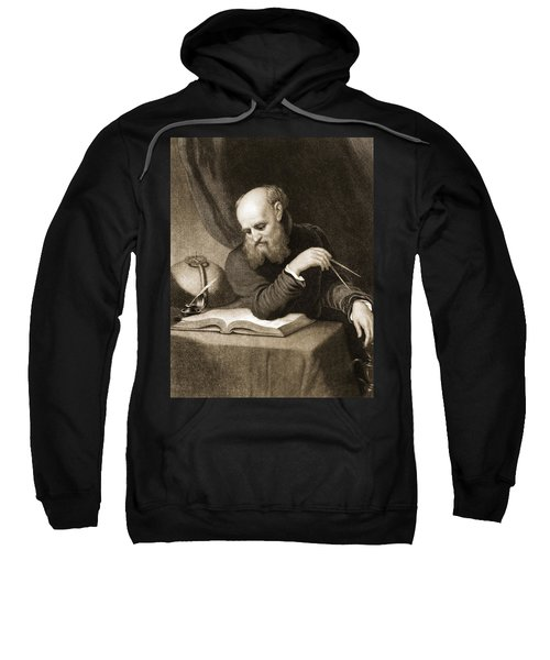 Galileo With Compass And Diagrams Sweatshirt