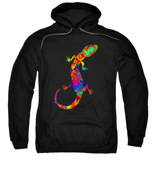 Gecko Watercolor Art Sweatshirt