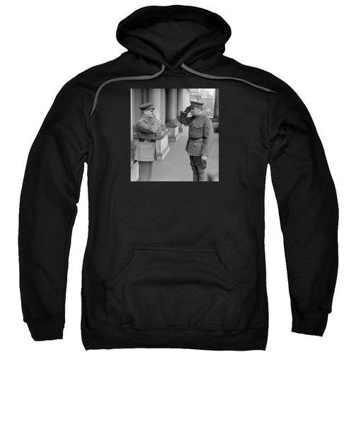 General John Pershing Saluting Babe Ruth Sweatshirt by War Is Hell Store