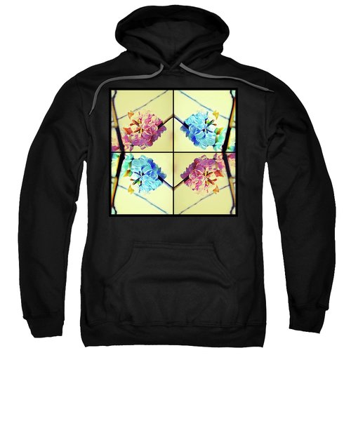 Geometric Cherry Blossoms Sweatshirt