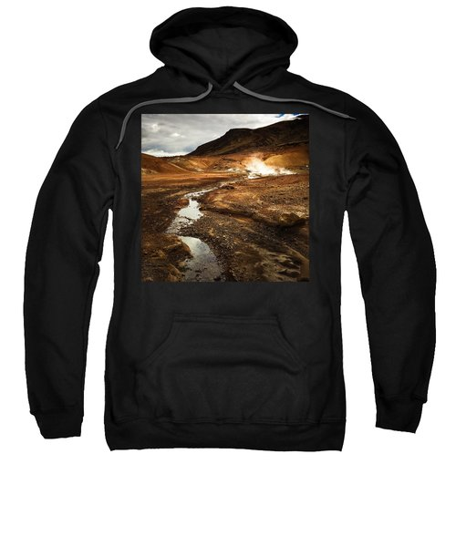 Geothermal Area Krysuvik In Iceland Sweatshirt