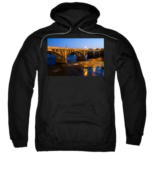 Gervais Street Bridge At Twilight Sweatshirt