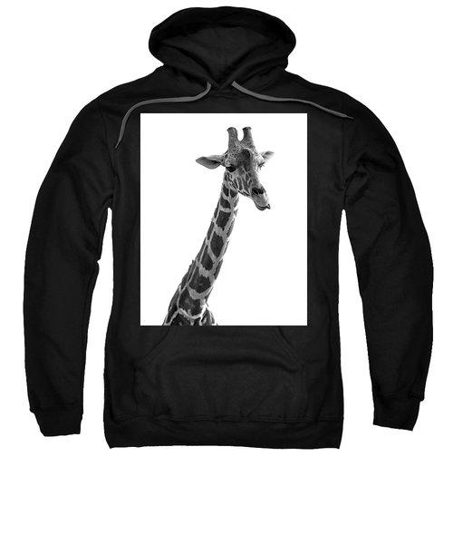 Giraffe In Black And White 3 Sweatshirt