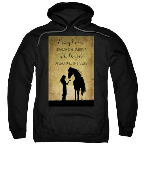 Girl And Horse Silhouette Sweatshirt