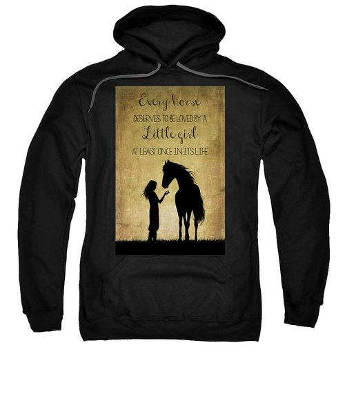 Girl And Horse Silhouette Sweatshirt