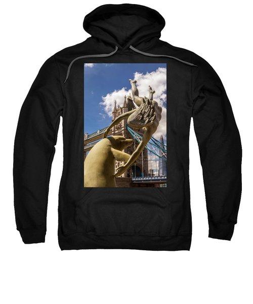 Girl With A Dolphin Fountain Sweatshirt